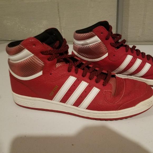 Adidas Top Ten Hi Redwhite Size 3 Mens
